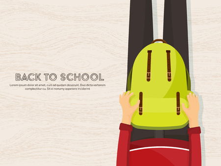 teacher and student: Back to school flat background. Online education and study. Teacher, student.