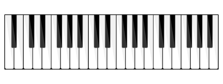 Vector illustration. Musical flat background. Piano key, keyboard. Melody. Instrument. 向量圖像