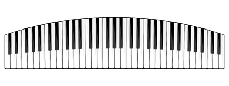 melody: Vector illustration. Musical flat background. Piano key, keyboard. Melody. Instrument. Illustration