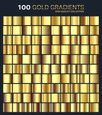 silvery: Gold,golden gradient,pattern,template.Set of colors for design,collection of high quality gradients.Metallic texture,shiny background.Pure metal.Suitable for text ,mockup,banner, ribbon or ornament.