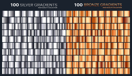 Silver,bronze gradient,pattern,template.Set of colors for design,collection of high quality gradients.Metallic texture,shiny background.Pure metal.Suitable for text ,mockup,banner,ribbon or ornament.