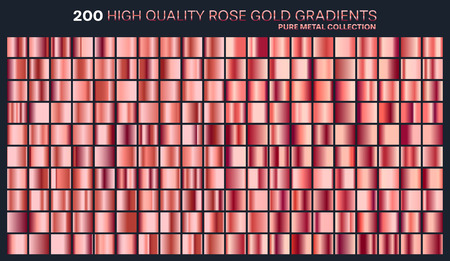 Rose gold gradient,pattern,template.Set of colors for design,collection of high quality gradients.Metallic texture,shiny background.Pure metal.Suitable for text ,mockup,banner, ribbon or ornament.