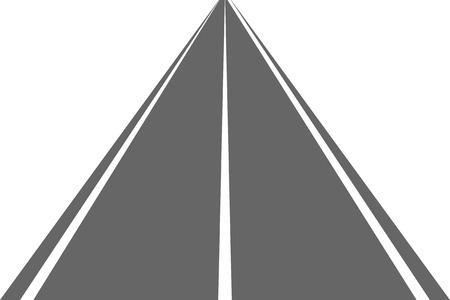 Road, street with asphalt. Highway. Way for transport. Isolated.Speedway.Vector illustration. Illustration