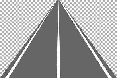 Road, street with asphalt. Highway. Way for transport. Isolated.Speedway.Vector illustration. Illustration