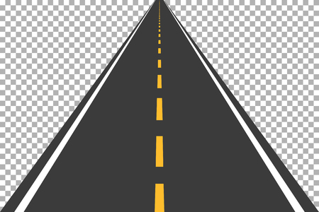 Road, street with asphalt. Highway. Way for transport. Isolated.Speedway.Vector illustration. Stock Vector - 75750955