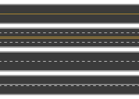 Route, rue d'asphalte. Autoroute. Way pour le transport. illustration Isolated.Speedway.Vector. Banque d'images - 75971949