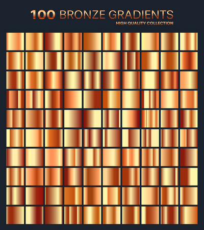 silvery: Bronze gradient,pattern,template.Set of colors for design,collection of high quality gradients.Metallic texture,shiny background.Pure metal.Suitable for text ,mockup,banner, ribbon or ornament.