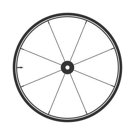symbole de roue de bicyclette, vecteur. caoutchouc vélo. pneu de montagne. Soupape. Fitness cycle.MTB. Vélo de montagne. Vecteurs