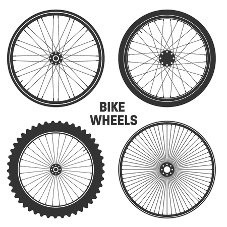 recreational pursuit: Bicycle wheel symbol,vector. Bike rubber. Mountain tyre. Valve. Fitness cycle.MTB. Mountainbike.