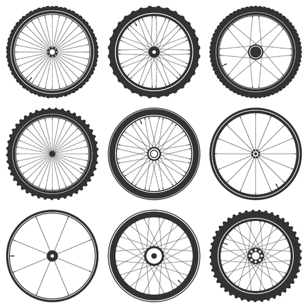 Bicycle wheel symbol,vector. Bike rubber. Mountain tyre. Valve. Fitness cycle.MTB. Mountainbike. Stock fotó - 76187967