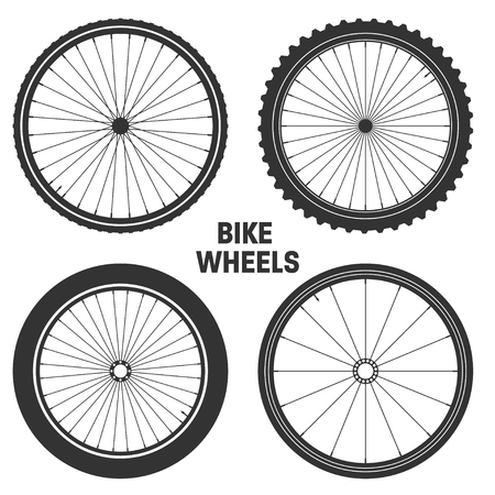 Bicycle wheel symbol, Mountain Bike rubber tire.