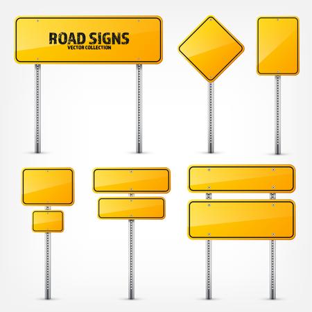 도 노란색 교통 표지입니다. 장소에 대 한 text.Mockup 빈 보드입니다. 격리 된 정보 기호입니다. 방향. 벡터 일러스트 레이 션. 스톡 콘텐츠 - 77372594