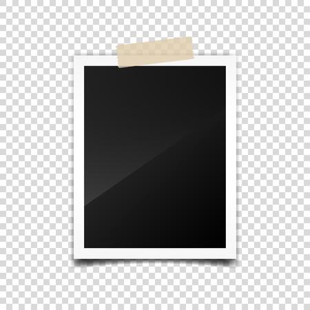 Digital snapshot,image.Photography art. Template or mockup for design.Vector illustration on a transparent background.