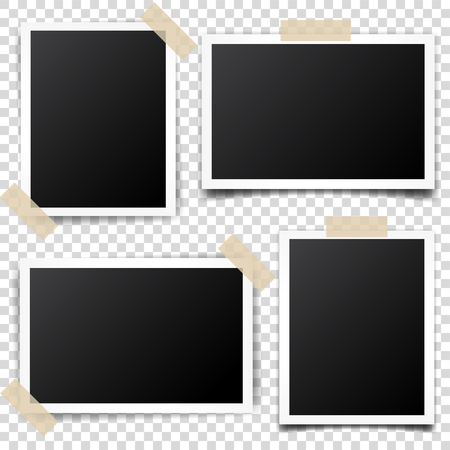 Digital snapshot,image.Photography art. Template or mockup for design.Vector illustration on a transparent background.