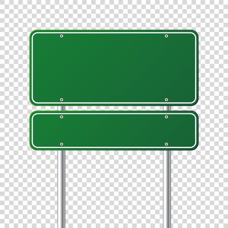 도 녹색 교통 표지입니다. 장소에 대 한 text.Mockup 빈 보드입니다. 격리 된 정보 기호입니다. 방향. 벡터 일러스트 레이 션. 일러스트