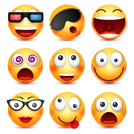 Ambiances de personnage de dessin animé drôles. Icône Web. Illustration vectorielle Banque d'images - 78620504