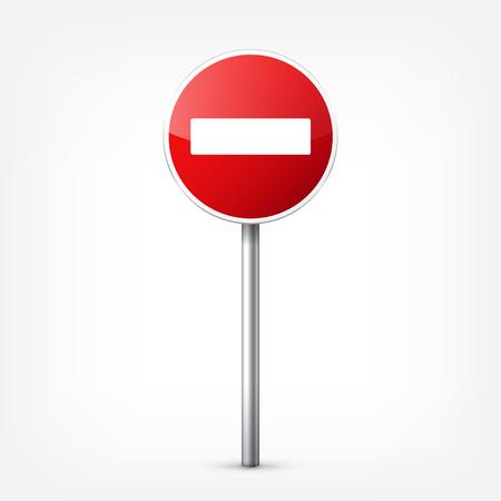 Weg rode tekens collectie geïsoleerd op een witte achtergrond. Road traffic control.Lane usage.Stop en opbrengst. Regeltekens. Krommen en bochten.