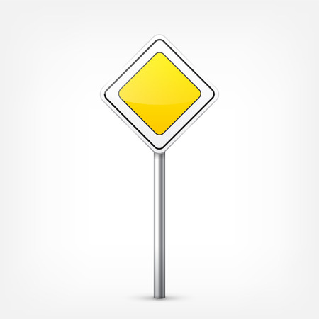 Road signs collection isolated on white background. Road traffic control.Lane usage.Stop and yield. Regulatory signs. Curves and turns. Ilustração