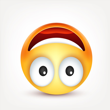 Smiley,emoticon. Yellow face with emotions. Facial expression. 3d realistic emoji. Sad,happy,angry faces.Funny cartoon character.Mood. Web icon. Vector illustration. Zdjęcie Seryjne - 81809859