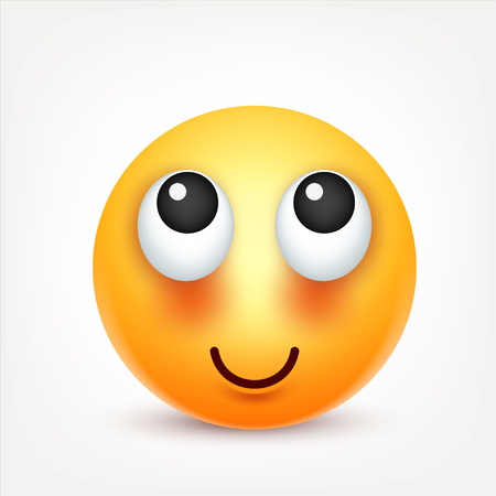 Smiley,emoticon. Yellow face with emotions. Facial expression. 3d realistic emoji. Sad,happy,angry faces.Funny cartoon character.Mood. Web icon. Vector illustration. Zdjęcie Seryjne - 81800713
