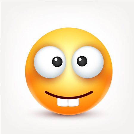 Smiley,emoticon. Yellow face with emotions. Facial expression. 3d realistic emoji. Sad,happy,angry faces.Funny cartoon character.Mood. Web icon. Vector illustration. Zdjęcie Seryjne - 81809876