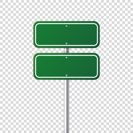 도 녹색 교통 표지입니다. 장소에 대 한 text.Mockup 빈 보드입니다. 격리 된 정보 기호입니다. 방향. 벡터 일러스트 레이 션. 스톡 콘텐츠 - 81806943