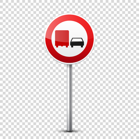 Road red signs collection isolated on transparent background. Road traffic control.Lane usage.Stop and yield. Regulatory signs. Curves and turns. Stok Fotoğraf - 83928240