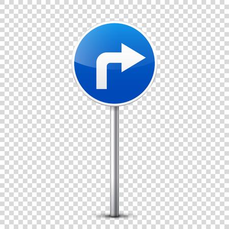 Weg blauw teken dat op transparante achtergrond wordt geïsoleerd.