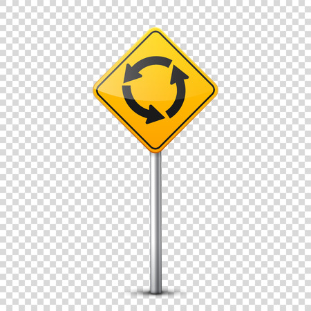 Road yellow sign. Stok Fotoğraf - 83445715