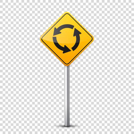 Weg geel teken. Stock Illustratie