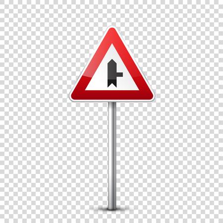 赤い道路標識。