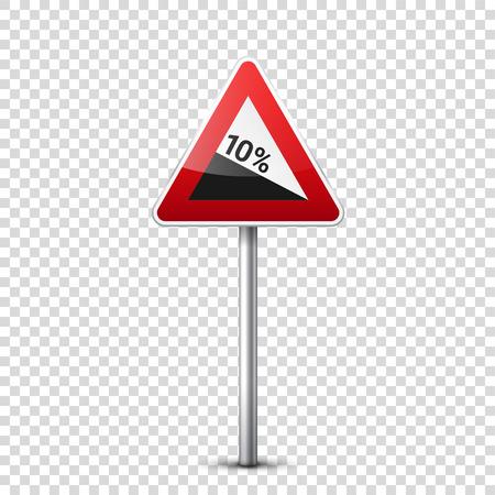 Rode verkeersbord. Stock Illustratie