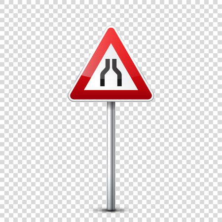 Red road sign.