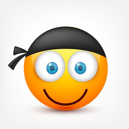 Smiley mit blauen Augen, Emoticon Set. Gelbes Gesicht mit Emotionen. Gesichtsausdruck. 3d realistische emoji Traurig, glücklich, wütend Gesichter.Funny Cartoon Charakter.Mood.Vector Illustration. Vektorgrafik