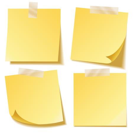 Kleverige notitie met schaduw geïsoleerd op transparante achtergrond. Geel papier. Bericht op notepaper.Reminder. Vector illustratie. Stock Illustratie
