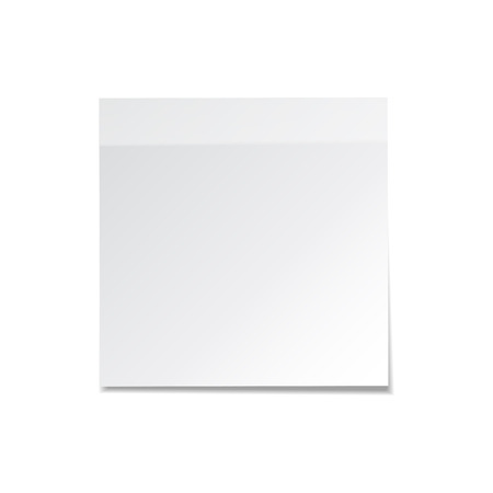 Sticky note with shadow isolated on transparent background. White paper. Message on notepaper. Reminder. Vector illustration. Stock Vector - 84273779