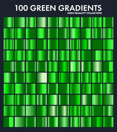 Grren chroom kleurverloop set, patroon, template.Nature, gras kleuren voor ontwerp, verzameling van hoogwaardige gradiënten. Metalen textuur, glanzende metalen achtergrond. Geschikt voor tekst, mockup, banner, lint