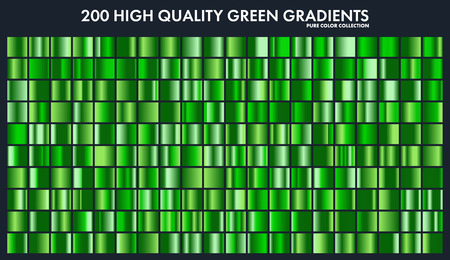 Ensemble de dégradé de chrome Grren, modèle, modèle. Nature, couleurs de l'herbe pour la conception, collection de dégradés de haute qualité. Texture métallique, fond de métal brillant. Convient pour le texte, maquette, bannière, ruban Banque d'images - 85256086