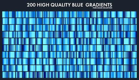 Blue chrome gradient set,pattern,template.Water,sky colors for design,collection of high quality gradients.Metallic texture,shiny metal background.Suitable for text ,mockup,banner, ribbon Çizim