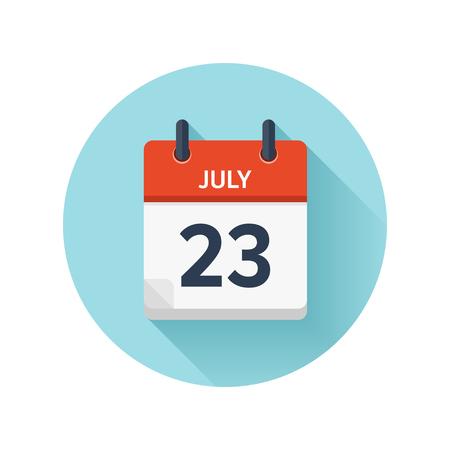 벡터 플랫 일일 캘린더 아이콘입니다. 날짜 및 시간, 일, 월 2018 일러스트