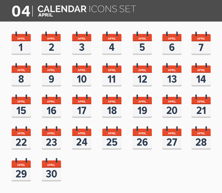 Calendar icons set for 2018.