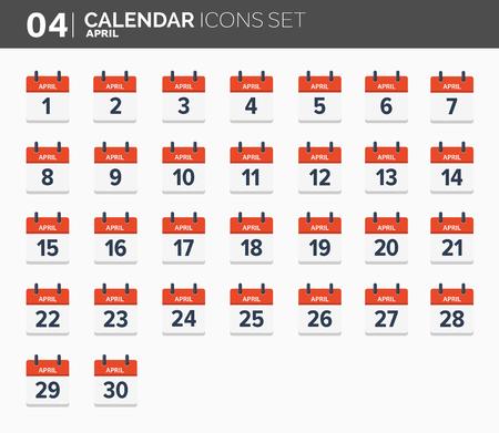 Calendar icons set for 2018.