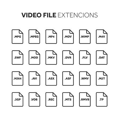 ビデオおよびマルチ メディア ファイルの拡張機能のアイコンを設定します。