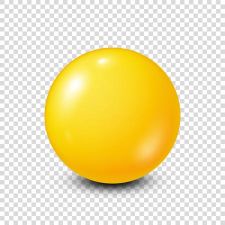 Lotteria gialla, biliardo, palla da pool. Snooker. Sfondo trasparente. Illustrazione vettoriale. Archivio Fotografico - 87356570