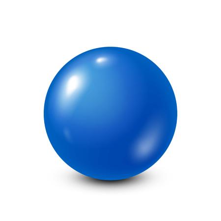 Blauwe loterij, biljart, biljartbal. Snooker. Witte achtergrond. Vector illustratie.
