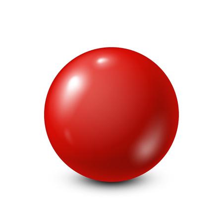 Rode loterij, biljart, poolbal. Snooker. Witte achtergrond. Vector illustratie.