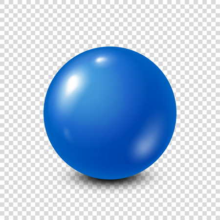 Blue lottery, billiard,pool ball. Snooker. Transparent background. Vector illustration.