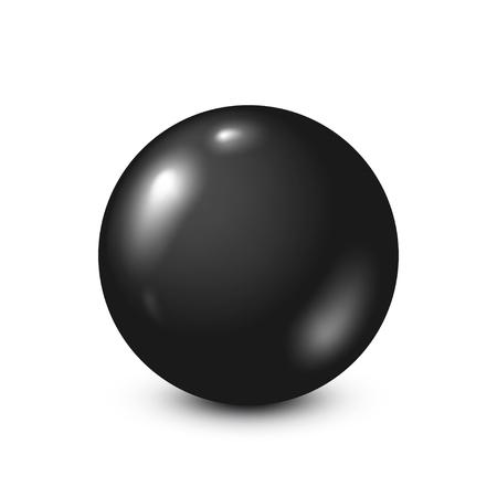 six objects: Black lottery, billiard,pool ball. Snooker. White background. Vector illustration. Illustration