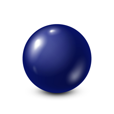Donkerblauwe loterij, biljart, poolbal. Snooker. Witte achtergrond. Vector illustratie.