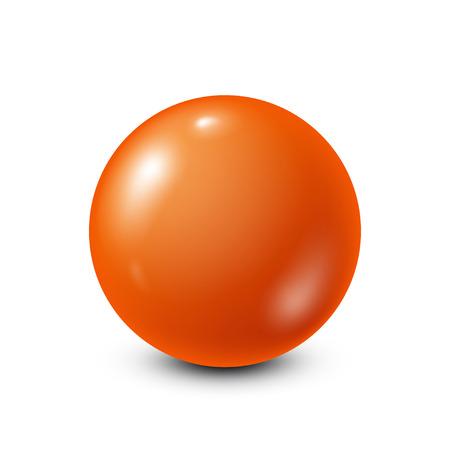 six objects: Orange lottery, billiard,pool ball. Snooker. White background. Vector illustration. Illustration